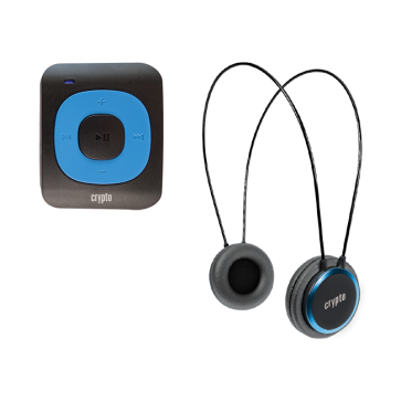 CRYPTO MP3 [MHP300P10] TRAVELLER BUNDLE MP300 PLUS 16GB BLUE + HP100 BLUE, W015998, by CRYPTO