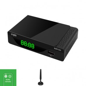CRYPTO DVB-T2 RECEIVER [ReDi 253] FHD with SMART TV Remote Control & Digital Antenna, W016042,