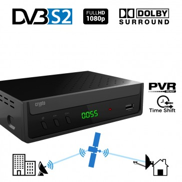 CRYPTO DVB-S2 RECEIVER [ReDi S100P] H.264 FHD PVR Ready with Dolby, W007179, by CRYPTO