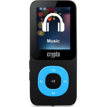 CRYPTO MP3 [MP1800 PLUS 64GB BLACK/BLUE], W015989, by CRYPTO