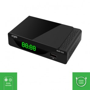 CRYPTO DVB-T2 RECEIVER [ReDi 253] FHD with SMART TV Remote Control & HDMI Cable, W016024,