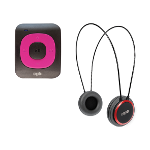 CRYPTO MP3 [MHP300P10] TRAVELLER BUNDLE MP300 PLUS 16GB FUCHSIA + HP100 RED, W015999,