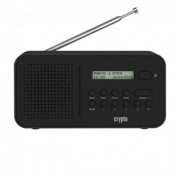 CRYPTO DAB RADIO [ReDi DB100] DAB+/FM Portable Radio Black, W007325, by CRYPTO