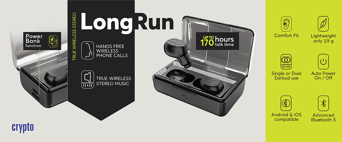 LongRun Wireless Bluetooth Earbuds