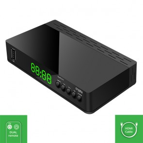 CRYPTO DVB-T2 RECEIVER [ReDi 271] FHD HEVC with SMART TV Remote Control & HDMI Cable, W016028,