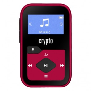 CRYPTO MP3 [MP330 PLUS 16GB BLACK/RED], W016038,