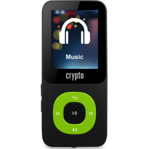 CRYPTO MP3 [MP1800 PLUS 16GB BLACK/GREEN], W015982,