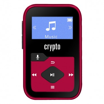 CRYPTO MP3 [MP330 PLUS 16GB BLACK/RED], W016038, by CRYPTO
