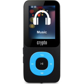 CRYPTO MP3 [MP1800 PLUS 16GB BLACK/BLUE], W015983,