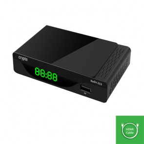CRYPTO DVB-T2 RECEIVER [ReDi 253] FHD with HDMI Cable, W016023,