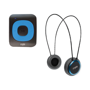 CRYPTO MP3 [MHP300P10] TRAVELLER BUNDLE MP300 PLUS 16GB BLUE + HP100 BLUE, W015998,